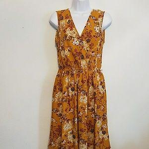NWT Xhilaration deep V-neck wrap dress w/elastic